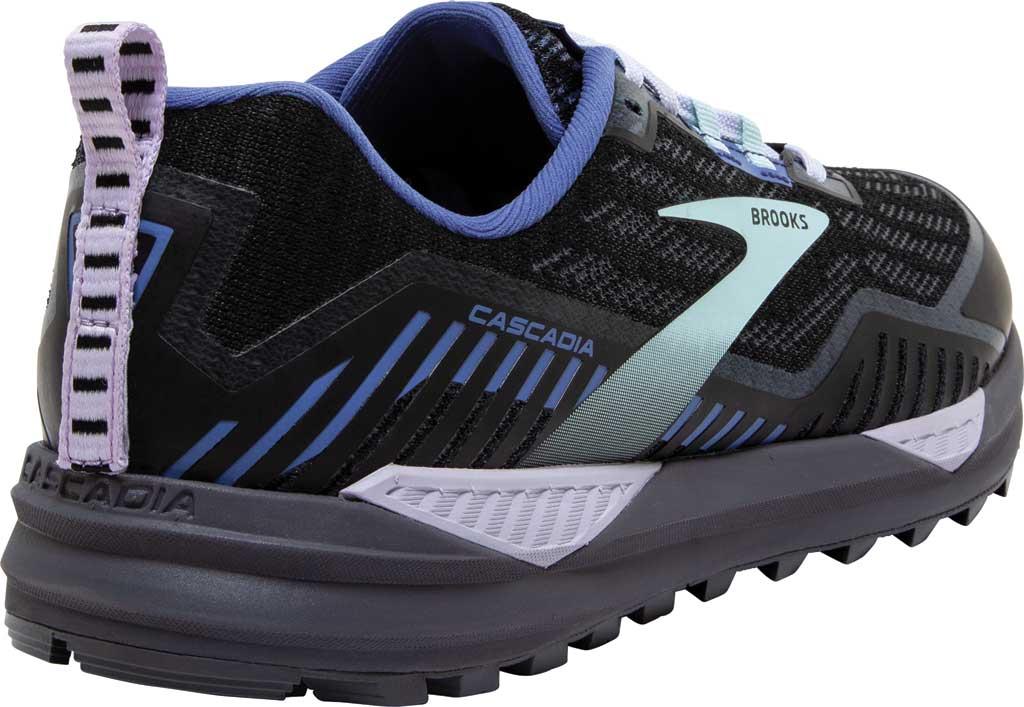 Women's Brooks Cascadia GORE-TEX 15 Trail Running Sneaker, Black/Marlin/Blue, large, image 4