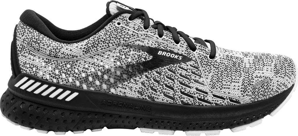 Men's Brooks Adrenaline GTS 21 Running Sneaker, White/Grey/Black, large, image 2