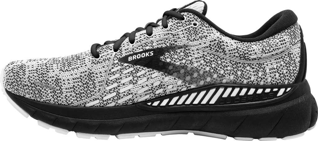 Men's Brooks Adrenaline GTS 21 Running Sneaker, White/Grey/Black, large, image 3