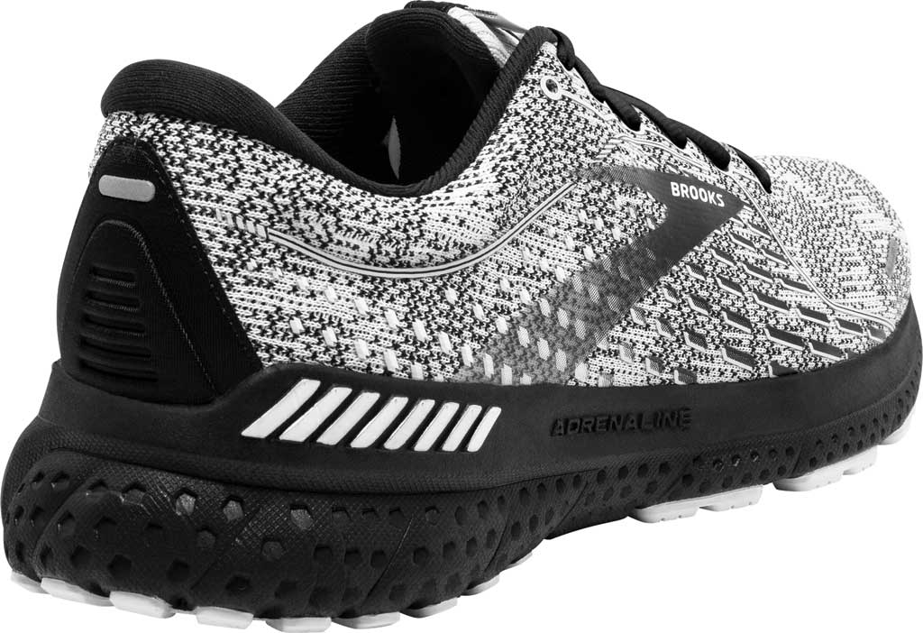 Men's Brooks Adrenaline GTS 21 Running Sneaker, White/Grey/Black, large, image 4
