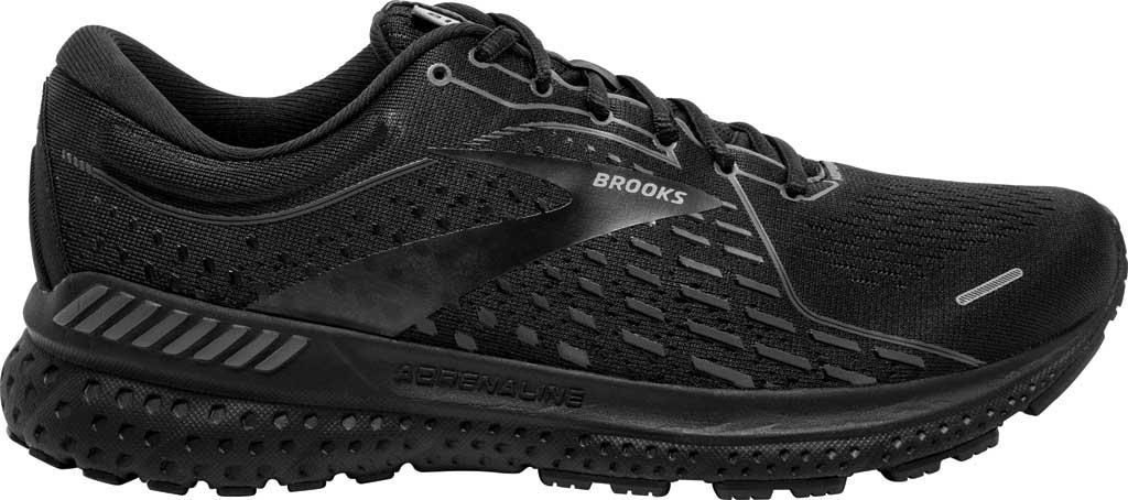 Men's Brooks Adrenaline GTS 21 Running Sneaker, Black/Black/Ebony, large, image 2