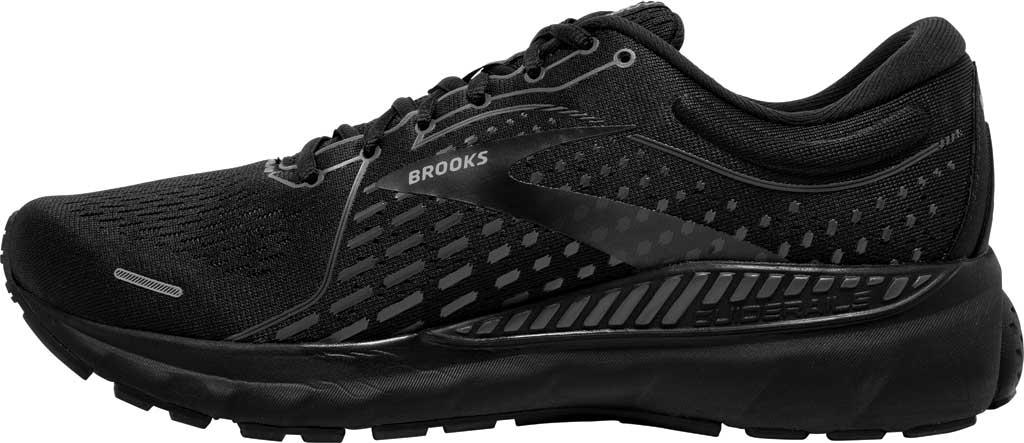 Men's Brooks Adrenaline GTS 21 Running Sneaker, Black/Black/Ebony, large, image 3