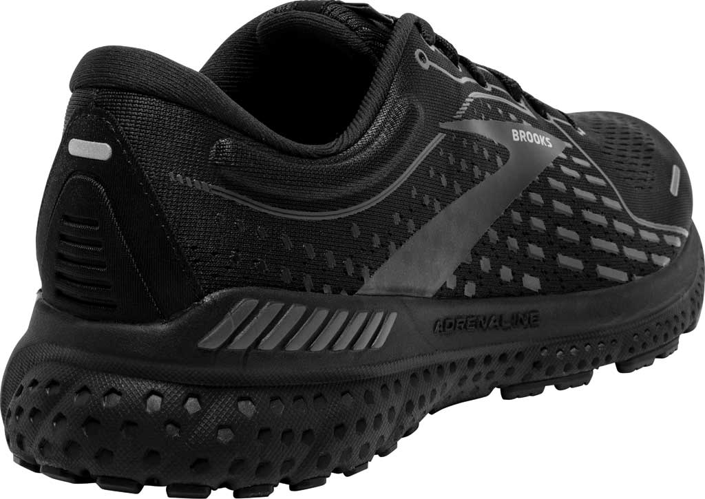 Men's Brooks Adrenaline GTS 21 Running Sneaker, Black/Black/Ebony, large, image 4