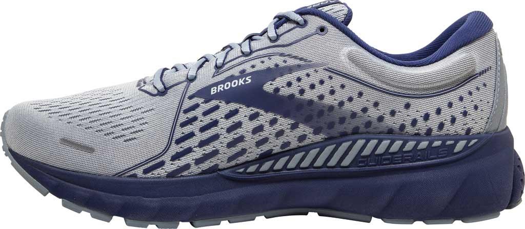 Men's Brooks Adrenaline GTS 21 Running Sneaker, Grey/Tradewinds/Deep Cobalt, large, image 3