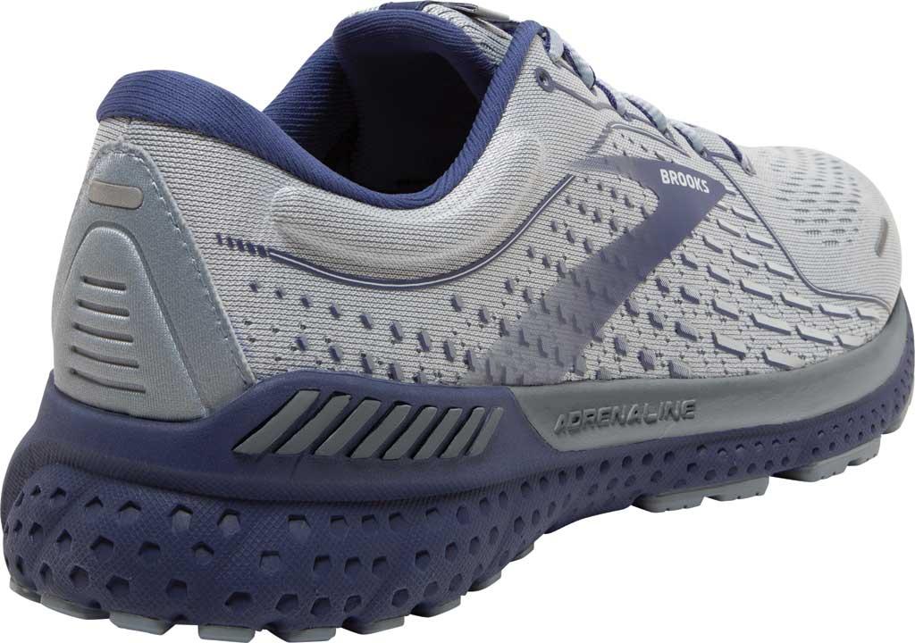 Men's Brooks Adrenaline GTS 21 Running Sneaker, Grey/Tradewinds/Deep Cobalt, large, image 4
