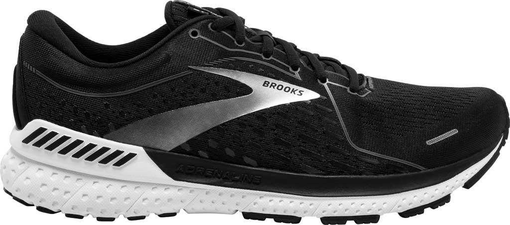 Men's Brooks Adrenaline GTS 21 Running Sneaker, Black Pearl/White, large, image 2