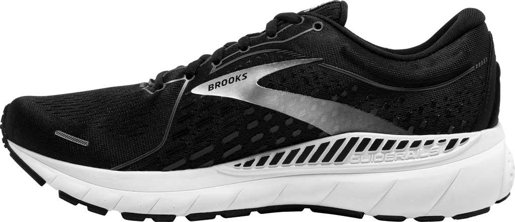 Men's Brooks Adrenaline GTS 21 Running Sneaker, Black Pearl/White, large, image 3