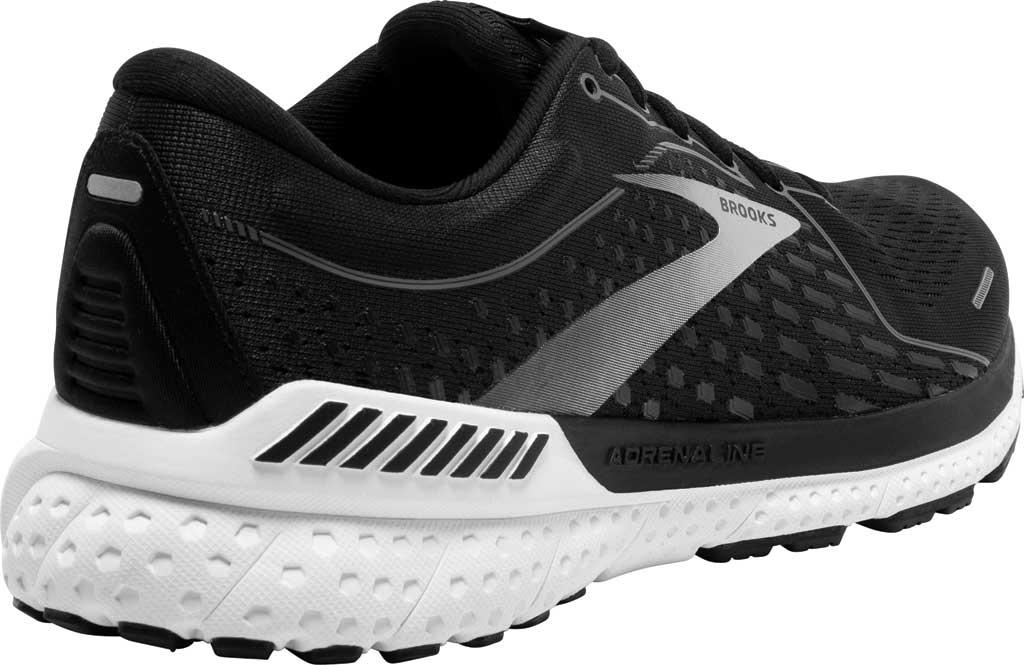 Men's Brooks Adrenaline GTS 21 Running Sneaker, Black Pearl/White, large, image 4