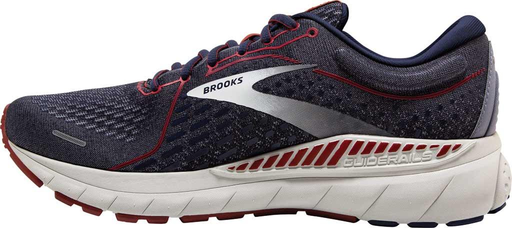 Men's Brooks Adrenaline GTS 21 Running Sneaker, Peacoat/Grey/Red, large, image 3