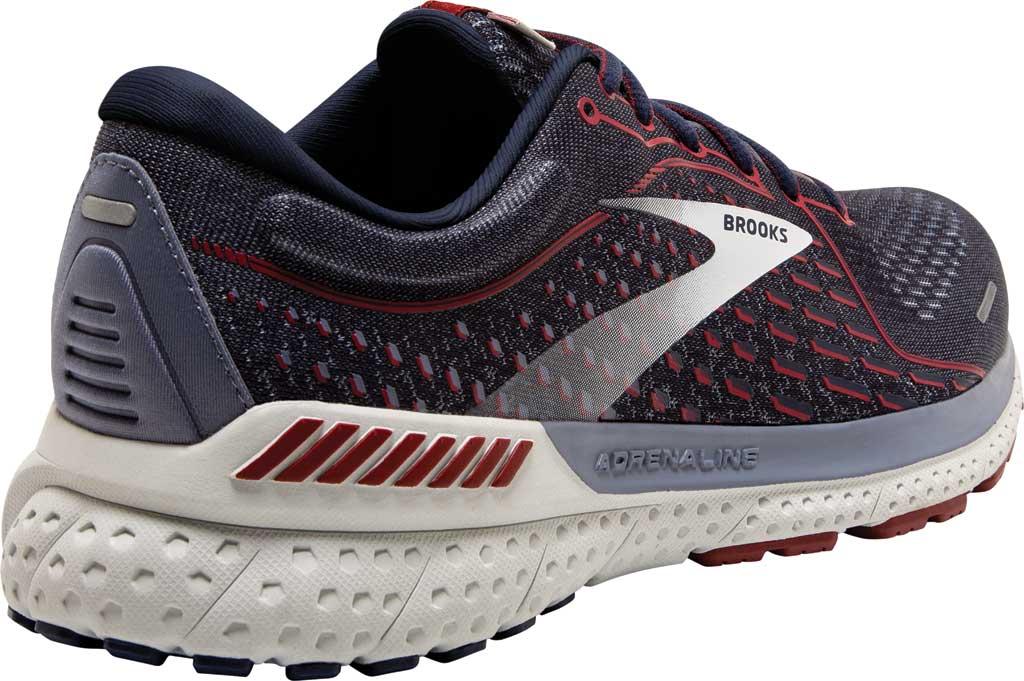 Men's Brooks Adrenaline GTS 21 Running Sneaker, Peacoat/Grey/Red, large, image 4
