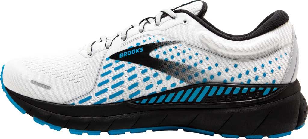 Men's Brooks Adrenaline GTS 21 Running Sneaker, White/Grey/Atomic Blue, large, image 3