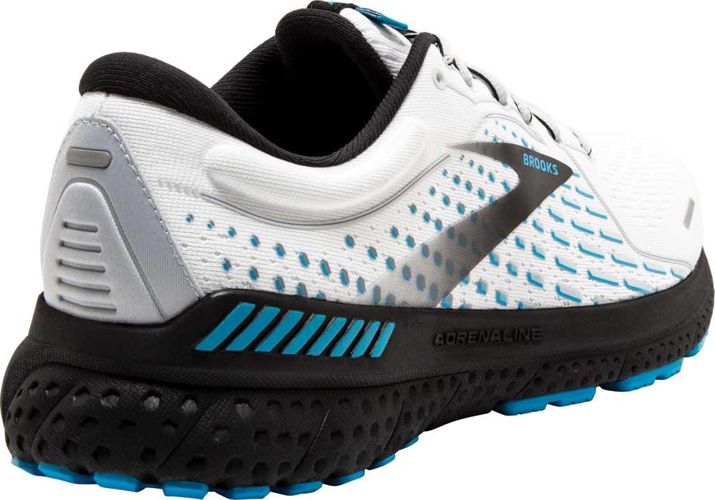 Men's Brooks Adrenaline GTS 21 Running Sneaker, White/Grey/Atomic Blue, large, image 4
