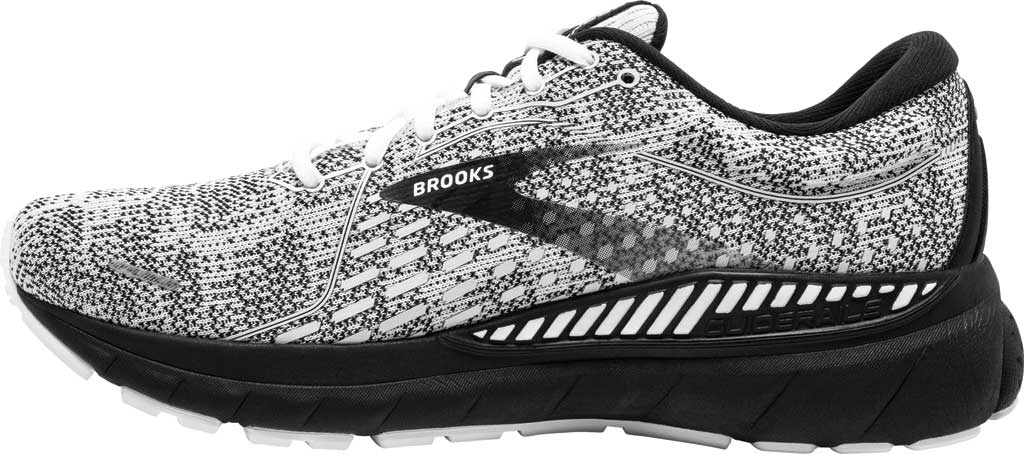 Women's Brooks Adrenaline GTS 21 Running Sneaker, White/Grey/Black, large, image 3
