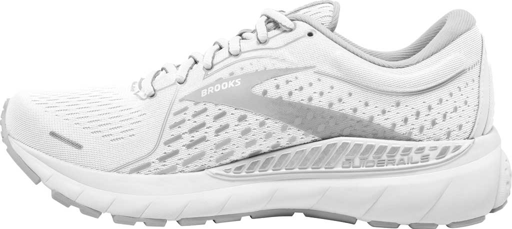 Women's Brooks Adrenaline GTS 21 Running Sneaker, White/Grey/Silver, large, image 2