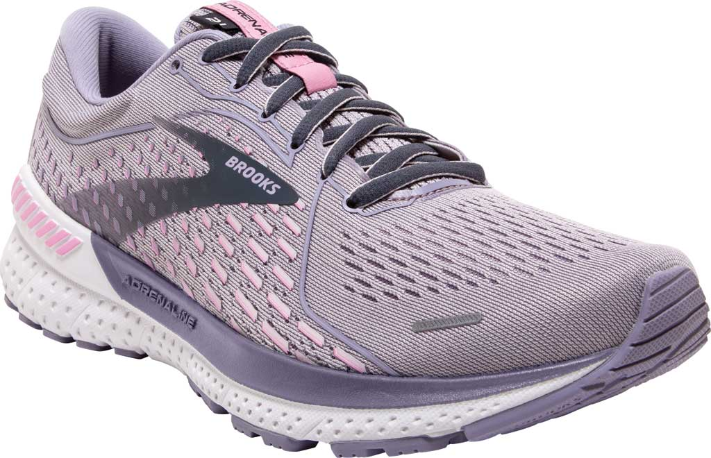 Women's Brooks Adrenaline GTS 21 Running Sneaker, Iris/Lilac Scachet/Ombre Blue, large, image 1