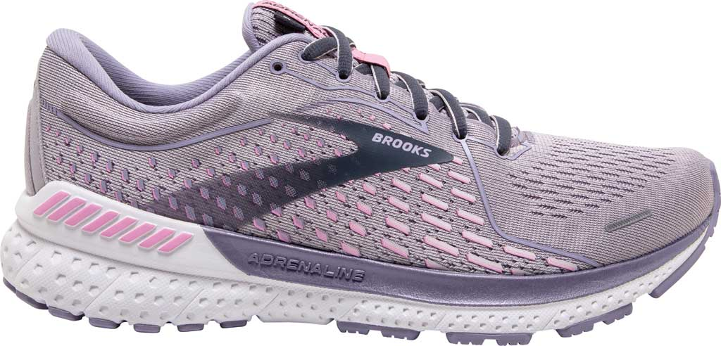 Women's Brooks Adrenaline GTS 21 Running Sneaker, Iris/Lilac Scachet/Ombre Blue, large, image 2