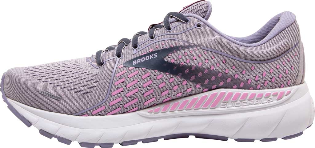 Women's Brooks Adrenaline GTS 21 Running Sneaker, Iris/Lilac Scachet/Ombre Blue, large, image 3