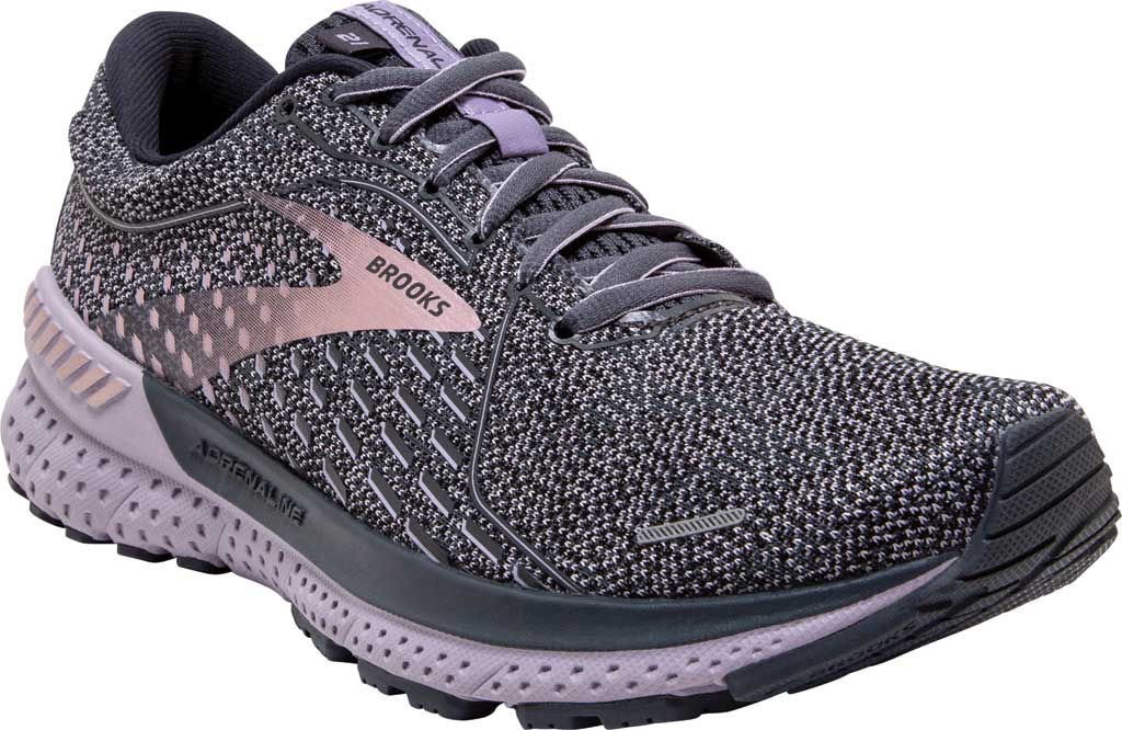 Women's Brooks Adrenaline GTS 21 Running Sneaker, Ombre/Lavender/Metallic, large, image 1