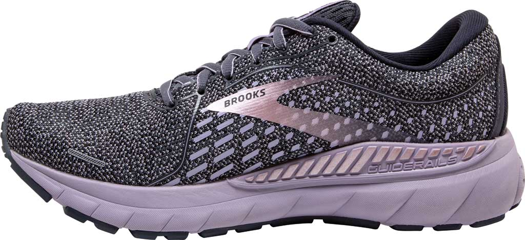 Women's Brooks Adrenaline GTS 21 Running Sneaker, Ombre/Lavender/Metallic, large, image 3