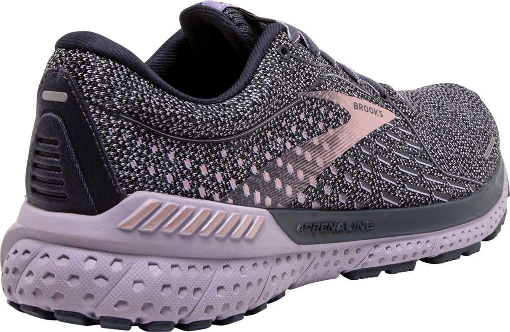 Women's Brooks Adrenaline GTS 21 Running Sneaker, Ombre/Lavender/Metallic, large, image 4