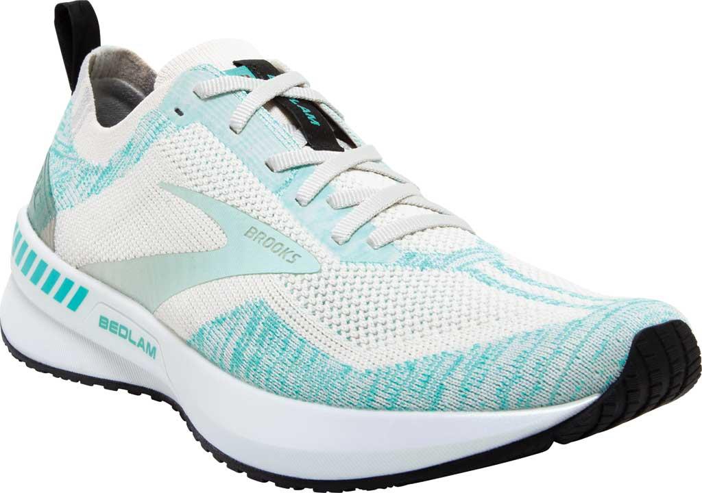 Women's Brooks Bedlam 3 Knit Running Sneaker, Jet Stream/Atlantis/Antarctica, large, image 1