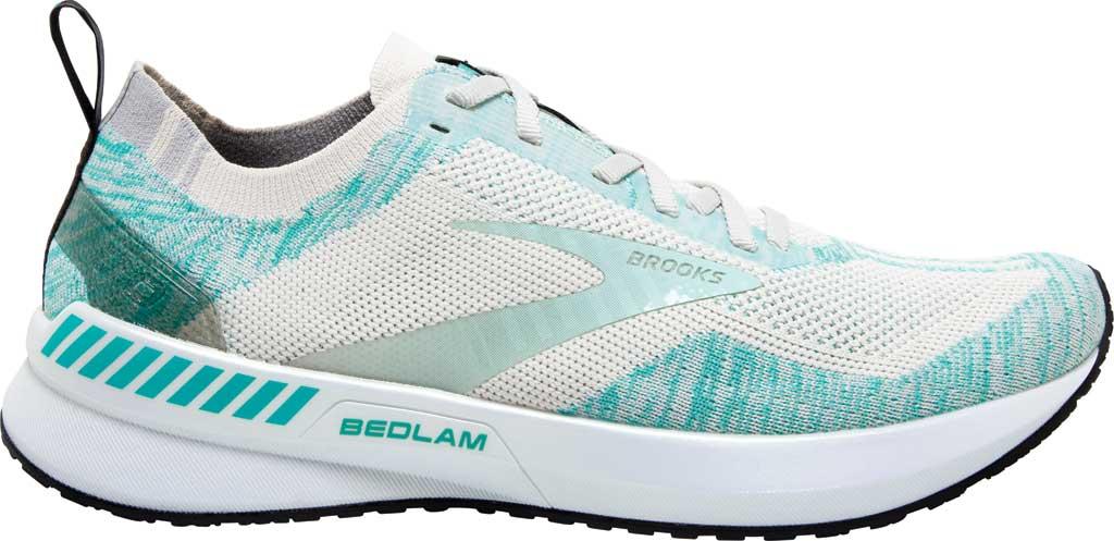 Women's Brooks Bedlam 3 Knit Running Sneaker, Jet Stream/Atlantis/Antarctica, large, image 2