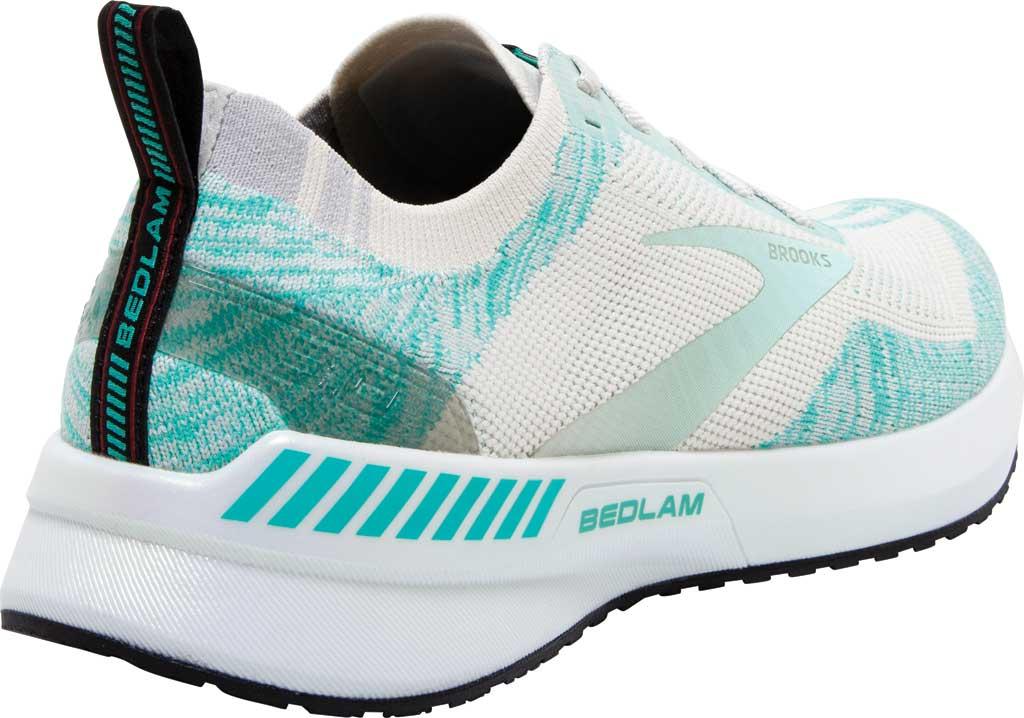 Women's Brooks Bedlam 3 Knit Running Sneaker, Jet Stream/Atlantis/Antarctica, large, image 4