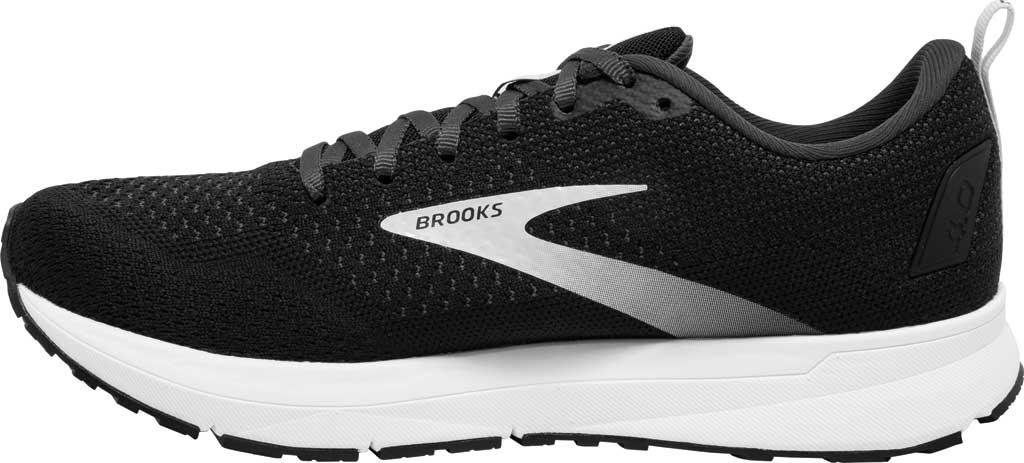 Men's Brooks Revel 4 Running Shoe, Black/Oyster/Silver, large, image 3