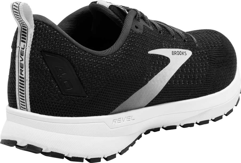 Men's Brooks Revel 4 Running Shoe, Black/Oyster/Silver, large, image 4
