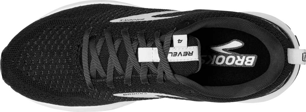 Men's Brooks Revel 4 Running Shoe, Black/Oyster/Silver, large, image 5