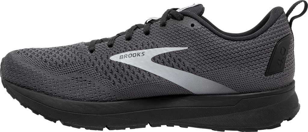 Men's Brooks Revel 4 Running Shoe, Ebony/Black/Grey, large, image 3