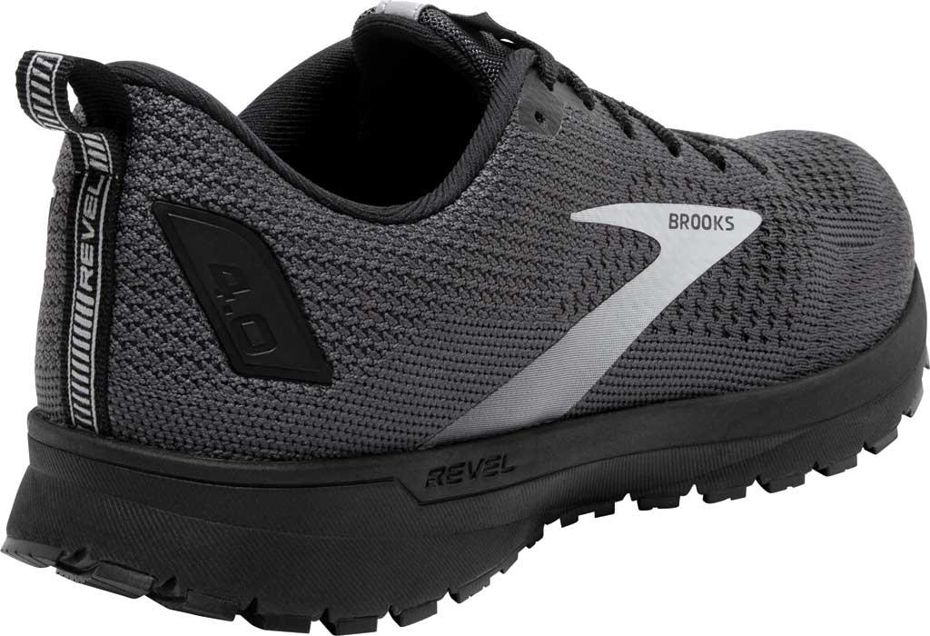 Men's Brooks Revel 4 Running Shoe, Ebony/Black/Grey, large, image 4