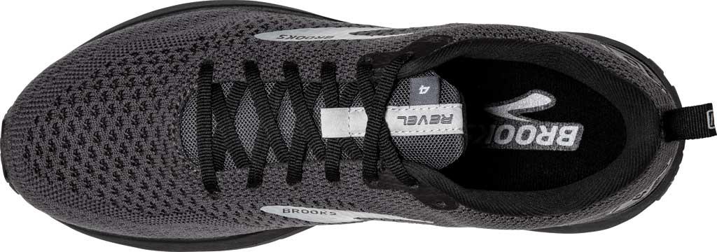 Men's Brooks Revel 4 Running Shoe, Ebony/Black/Grey, large, image 5