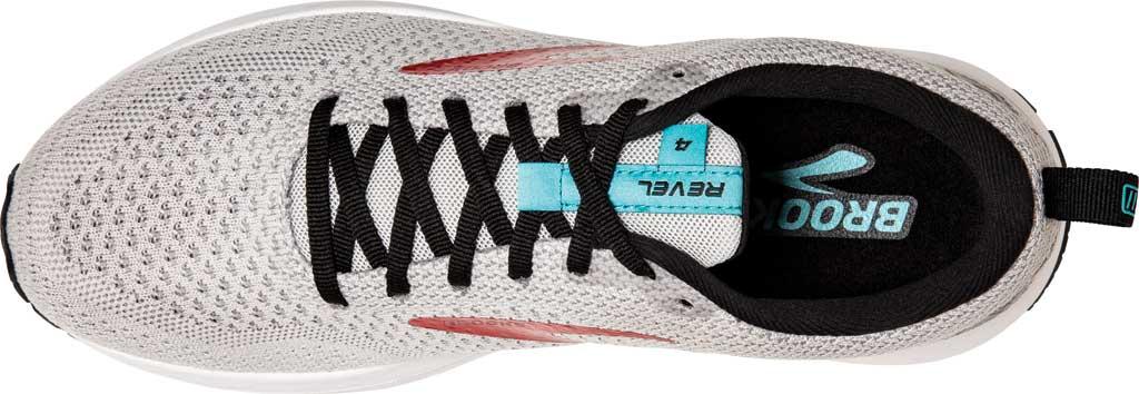 Men's Brooks Revel 4 Running Shoe, Grey/Black/Capri, large, image 5