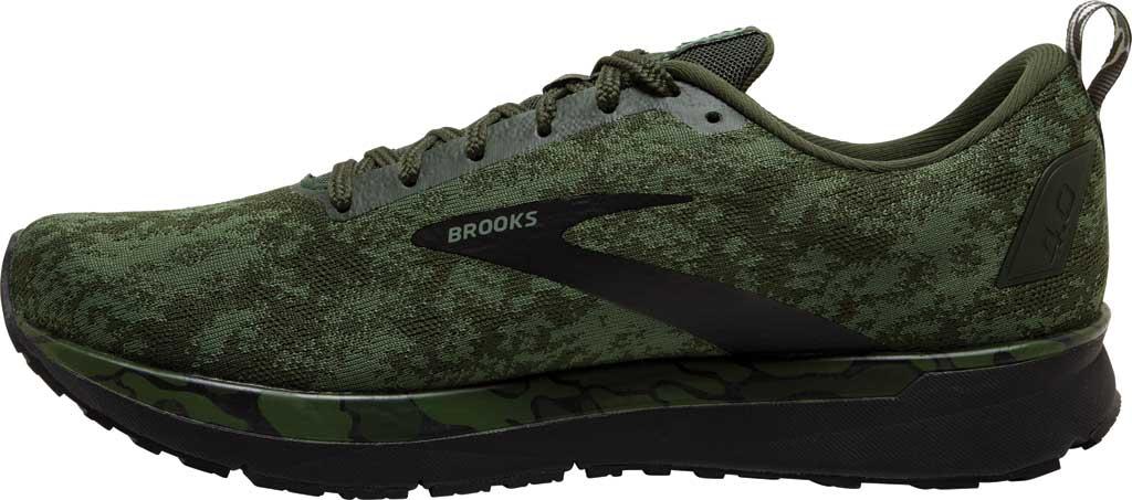 Men's Brooks Revel 4 Running Shoe, Bronze Green/Black/Green, large, image 3
