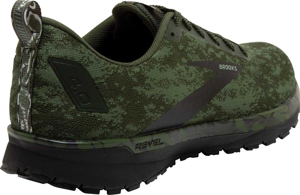 Men's Brooks Revel 4 Running Shoe, Bronze Green/Black/Green, large, image 4