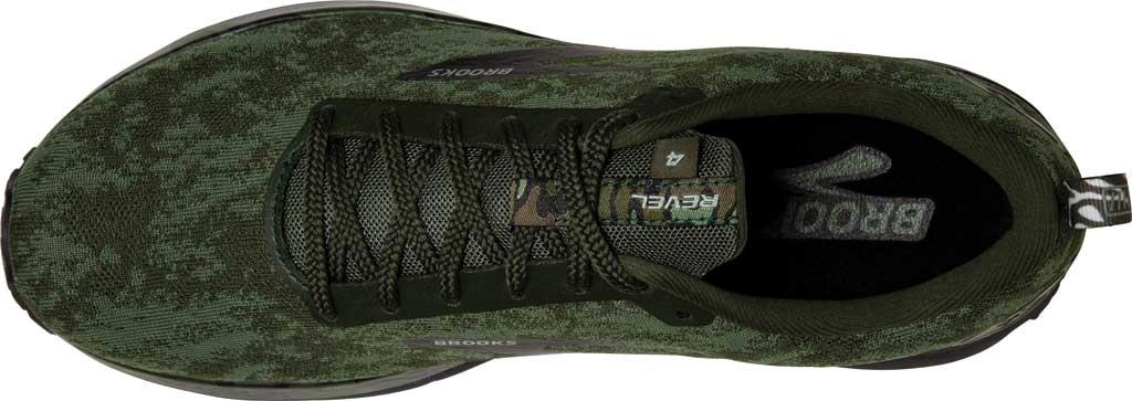 Men's Brooks Revel 4 Running Shoe, Bronze Green/Black/Green, large, image 5