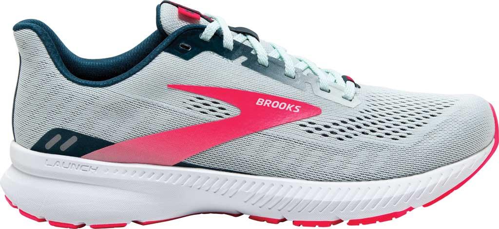 Women's Brooks Launch 8 Running Sneaker, Ice Flow/Navy/Pink, large, image 2