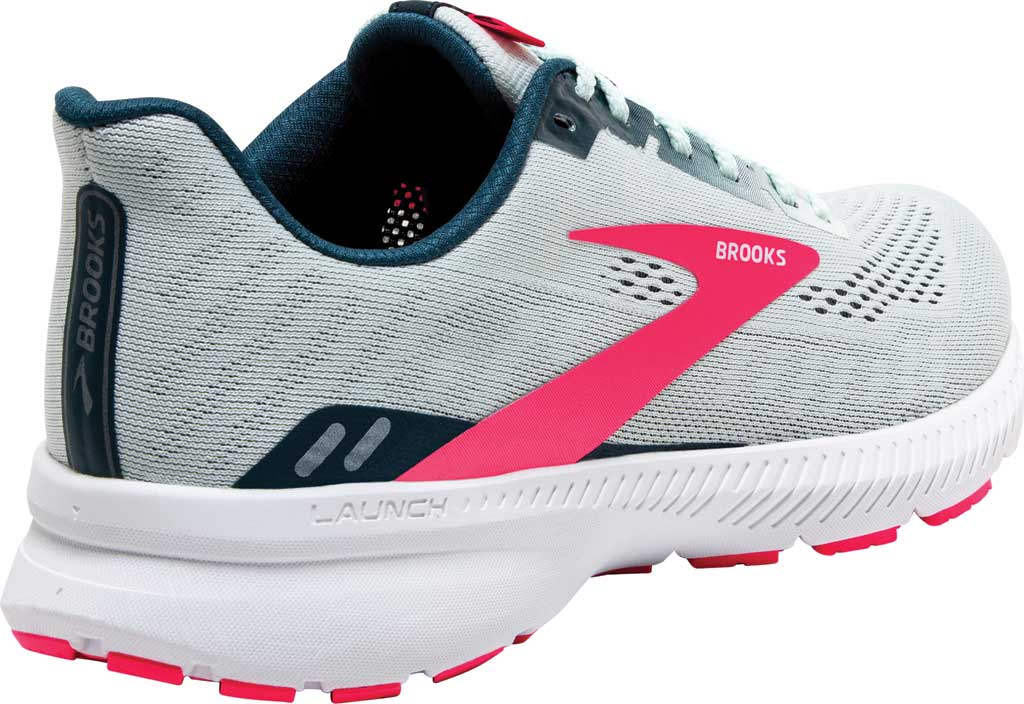 Women's Brooks Launch 8 Running Sneaker, Ice Flow/Navy/Pink, large, image 4