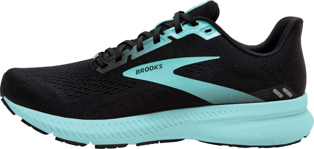 Women's Brooks Launch 8 Running Sneaker, Black/Ebony/Blue Tint, large, image 3