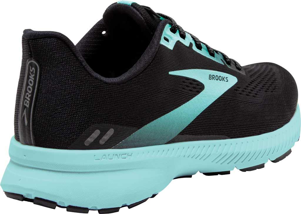 Women's Brooks Launch 8 Running Sneaker, Black/Ebony/Blue Tint, large, image 4
