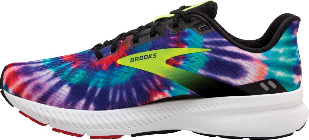 Women's Brooks Launch 8 Running Sneaker, Black/Nightlife/Red, large, image 3