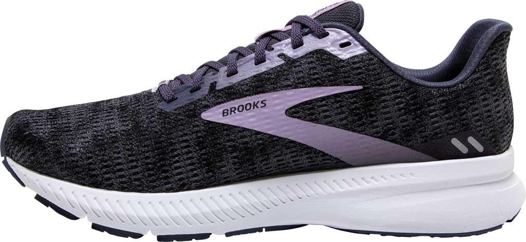 Women's Brooks Launch 8 Running Sneaker, Black/Ombre/Iris, large, image 3