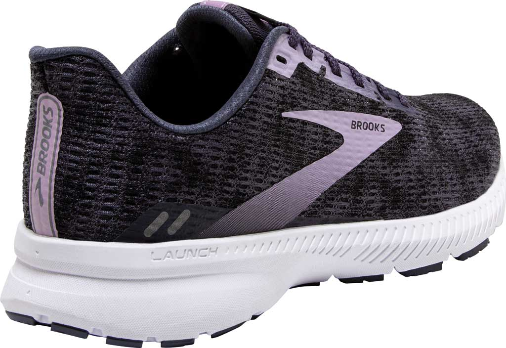 Women's Brooks Launch 8 Running Sneaker, Black/Ombre/Iris, large, image 4