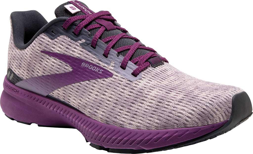 Women's Brooks Launch 8 Running Sneaker, Iris/Ombre/Violet, large, image 1