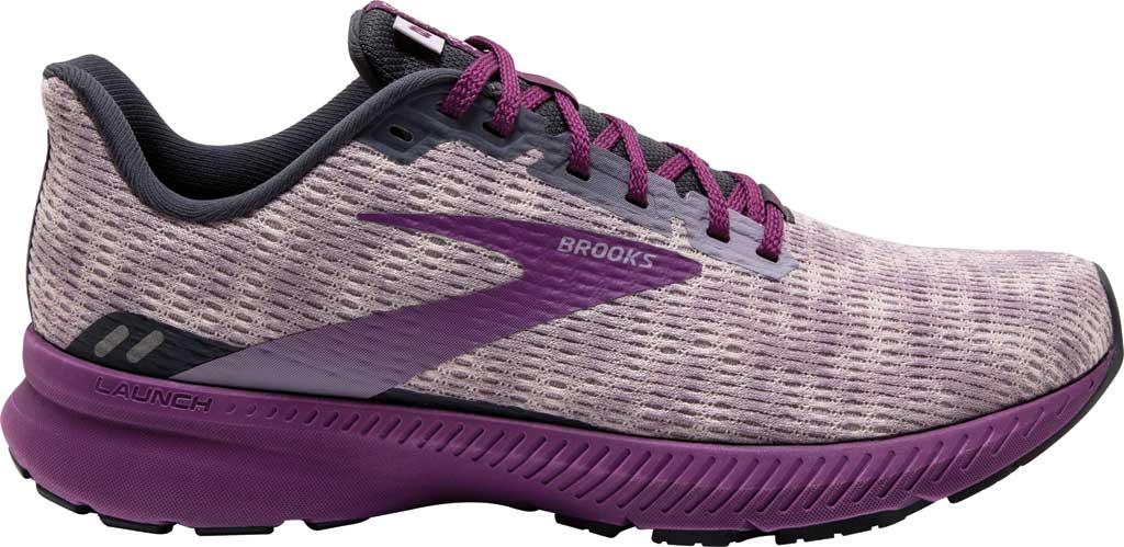 Women's Brooks Launch 8 Running Sneaker, Iris/Ombre/Violet, large, image 2