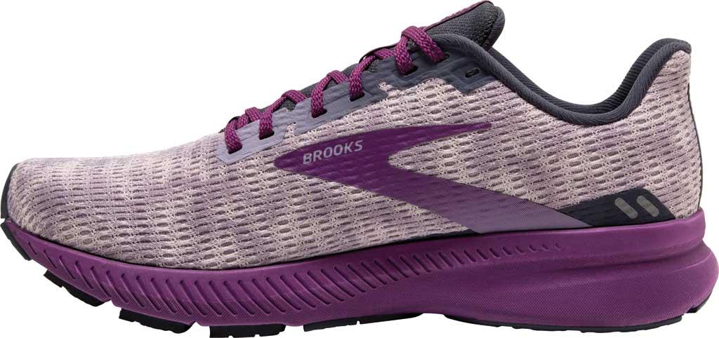 Women's Brooks Launch 8 Running Sneaker, Iris/Ombre/Violet, large, image 3