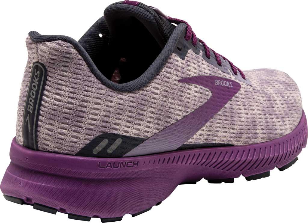 Women's Brooks Launch 8 Running Sneaker, Iris/Ombre/Violet, large, image 4