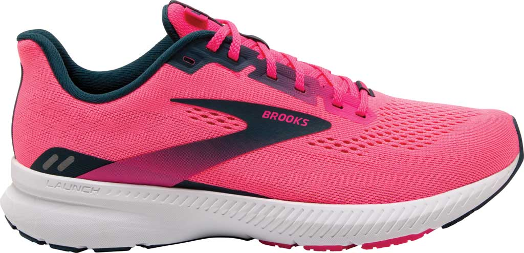 Women's Brooks Launch 8 Running Sneaker, Pink/Raspberry/Navy, large, image 2