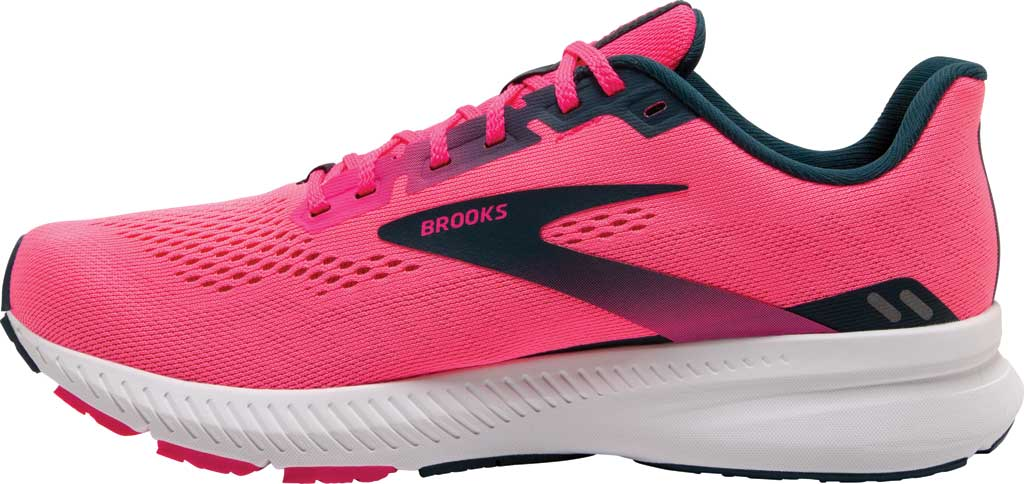 Women's Brooks Launch 8 Running Sneaker, Pink/Raspberry/Navy, large, image 3